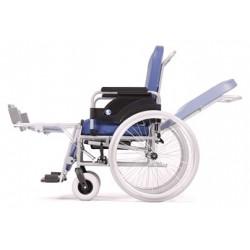 Wózek inwalidzko-toaletowy z pojemnikiem sanitarnym