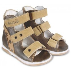 Sandały dzieciece Memo Viktor brązowo-beżowy