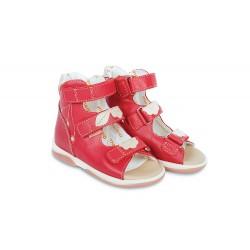 Sandały dzieciece Memo  Bellona  czerwono-beżowy