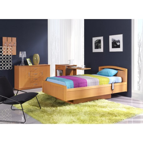 Piękne łóżko W Drewnianej Obudowie Pb 533