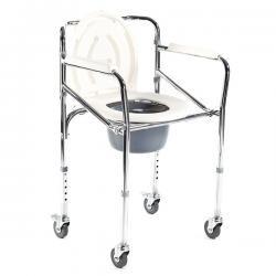 Krzesło toaletowe na kółkach składane