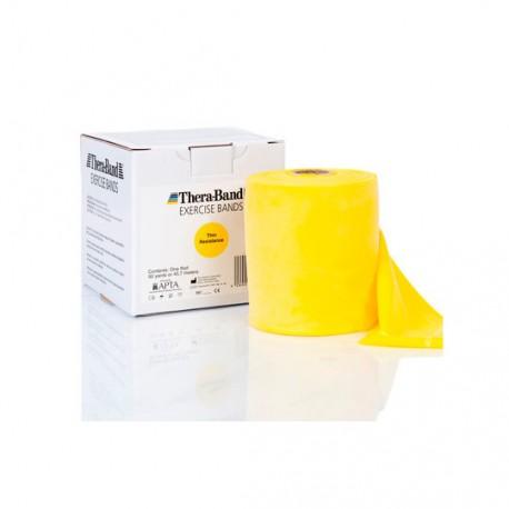 Taśma Thera-Band Żółta- opór słaby - cięta na metry! 150 CM