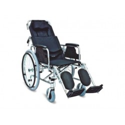 Wózek inwalidzki leżakowy ze stabilizacją głowy i pleców