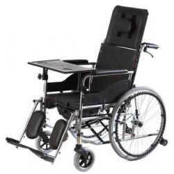Wózek inwalidzki specjalny stabilizujący plecy i głowę z funkcją toalety