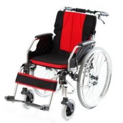 Wózek inwalidzki stalowo-aluminiowy